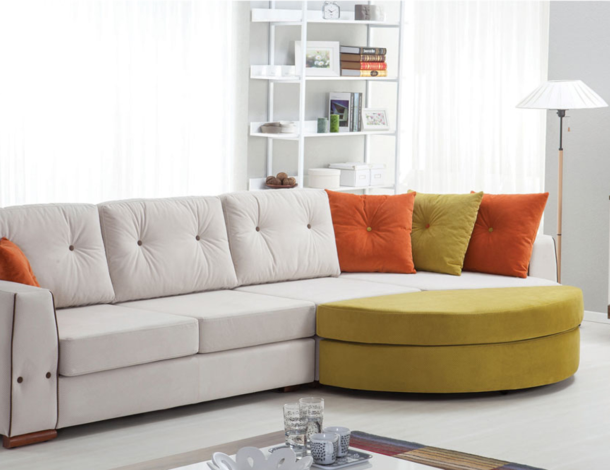 Colored corner sofa